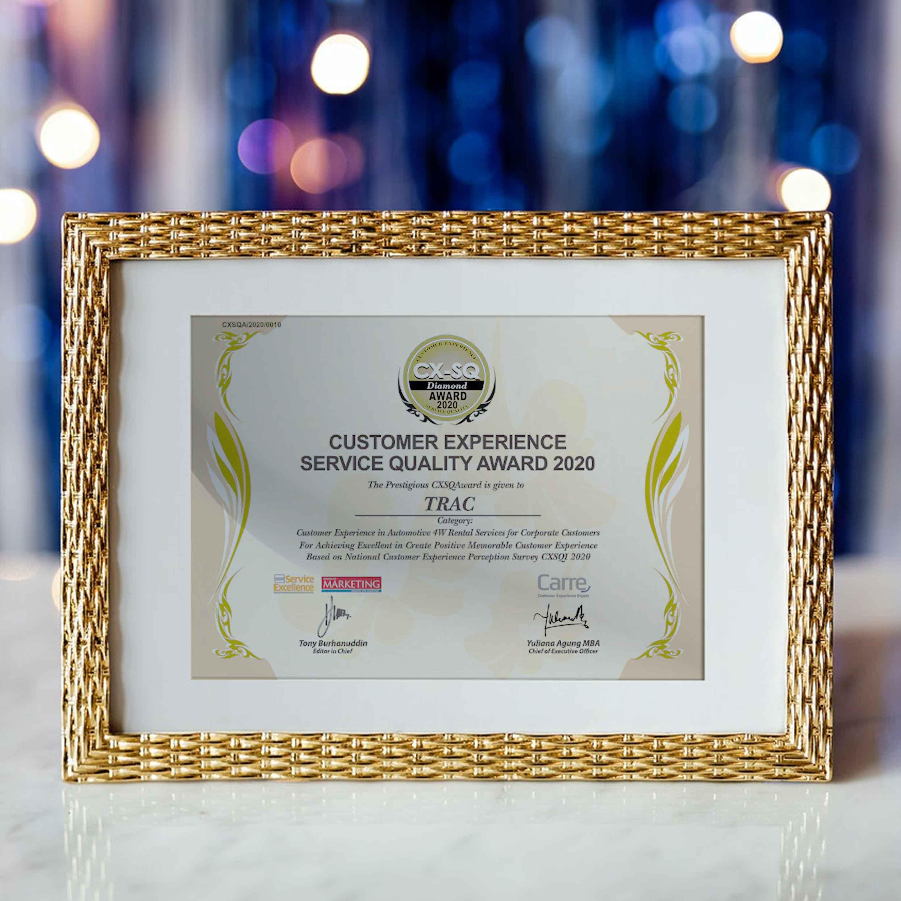 Satu Dekade Keberhasilan TRAC Meraih Customer Experience Service Quality Award (CXSQA)