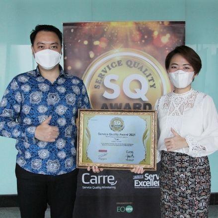 SERVICE QUALITY AWARD 2021 MENGUKUHKAN TRAC SEBAGAI CAR RENTAL TERBAIK