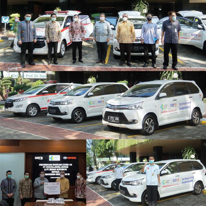 Langkah Berkelanjutan SERA dan Toyota Indonesia  dalam Memerangi COVID-19 dengan Menyerahkan Donasi Mobilitas dan Medis Ke Kementerian Kesehatan Republik Indonesia