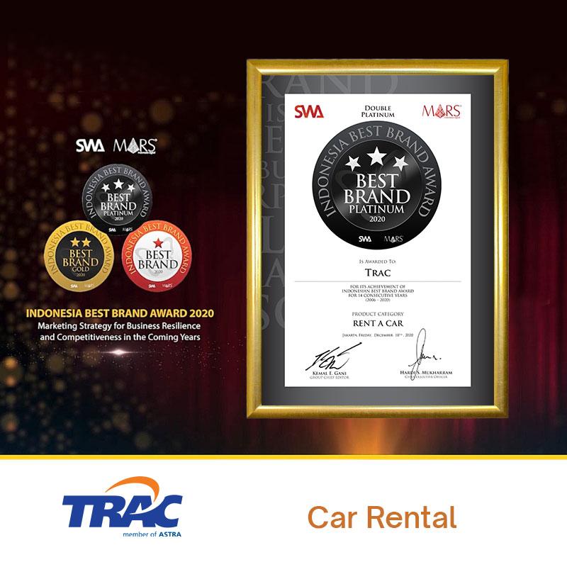 TRAC Raih Penghargaan Indonesia Best Brand Award Di Penghujung Tahun 2020