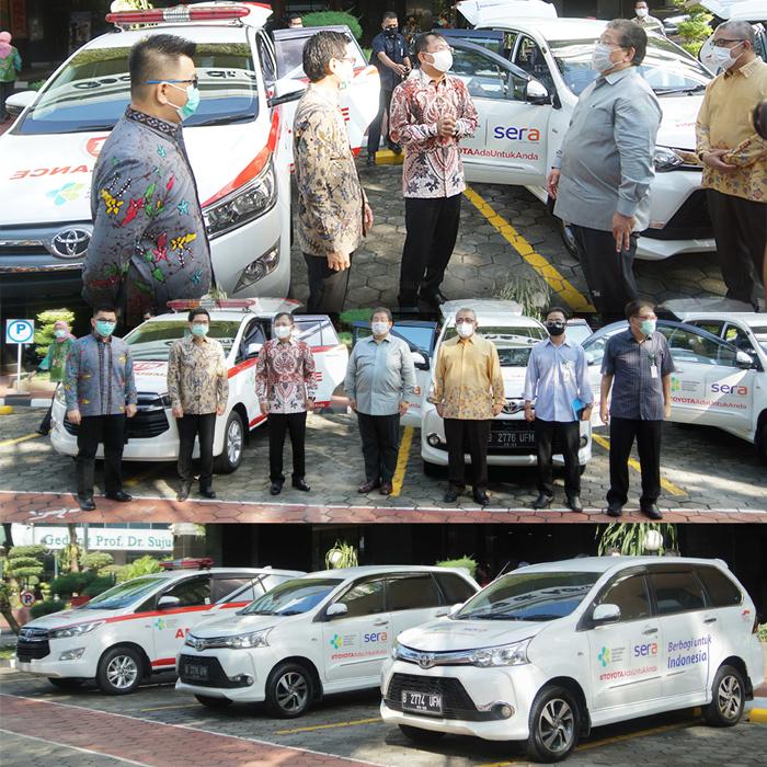 Langkah Berkelanjutan SERA dan Toyota Indonesia  dalam Memerangi COVID-19 dengan Menyerahkan Donasi Mobilitas dan Medis Ke Kementerian Kesehatan Republik